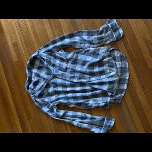 Grey and White flannel - size medium